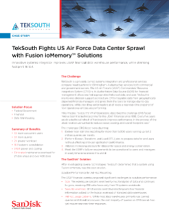 TekSouth Fights US Air Force Datacenter Sprawl with Fusion ioMemory Solutions