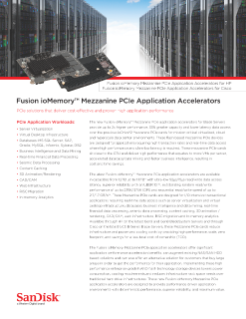 Fusion ioMemory Mezzanine PCIe Application Accelerators