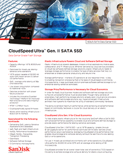CloudSpeed Gen. II SATA SSDs Data Sheet