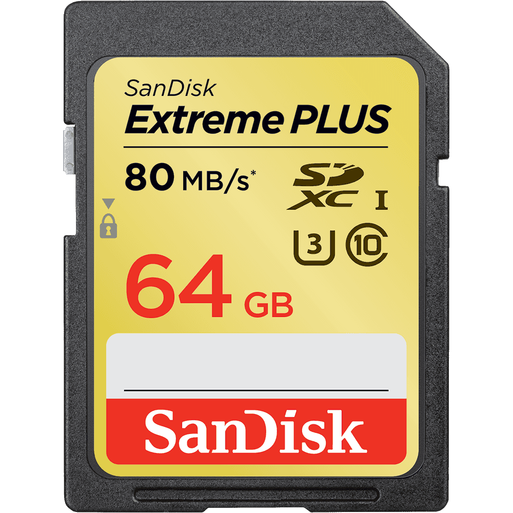 SanDisk Extreme<sup>®</sup> PLUS SDHC™/SDXC™ UHS-I Memory Cards